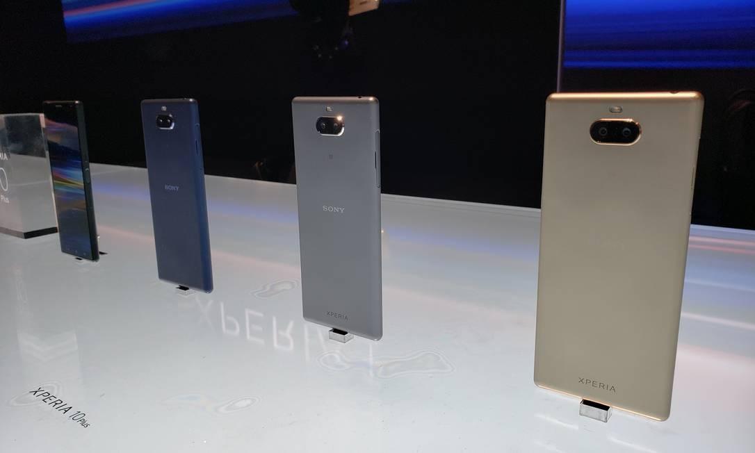 A Sony lançou o seu novo modelo Xperia com tela oled 8k. Tem três câmeras na parte traseira, que conta com recursos de sua linha profissional de câmeras, a Alpha, e sistema de som que permite experiência de cinema Foto: Bruno Rosa