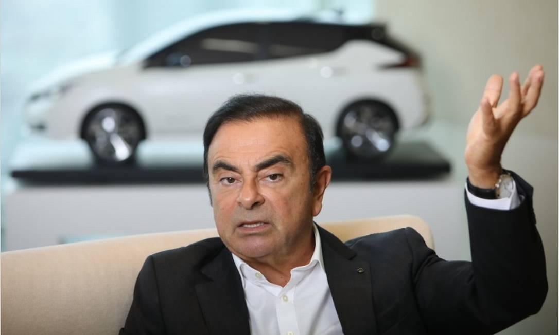 Carlos Ghosn se encontra detido em Tóquio desde novembro do ano passado Foto: Bloomberg