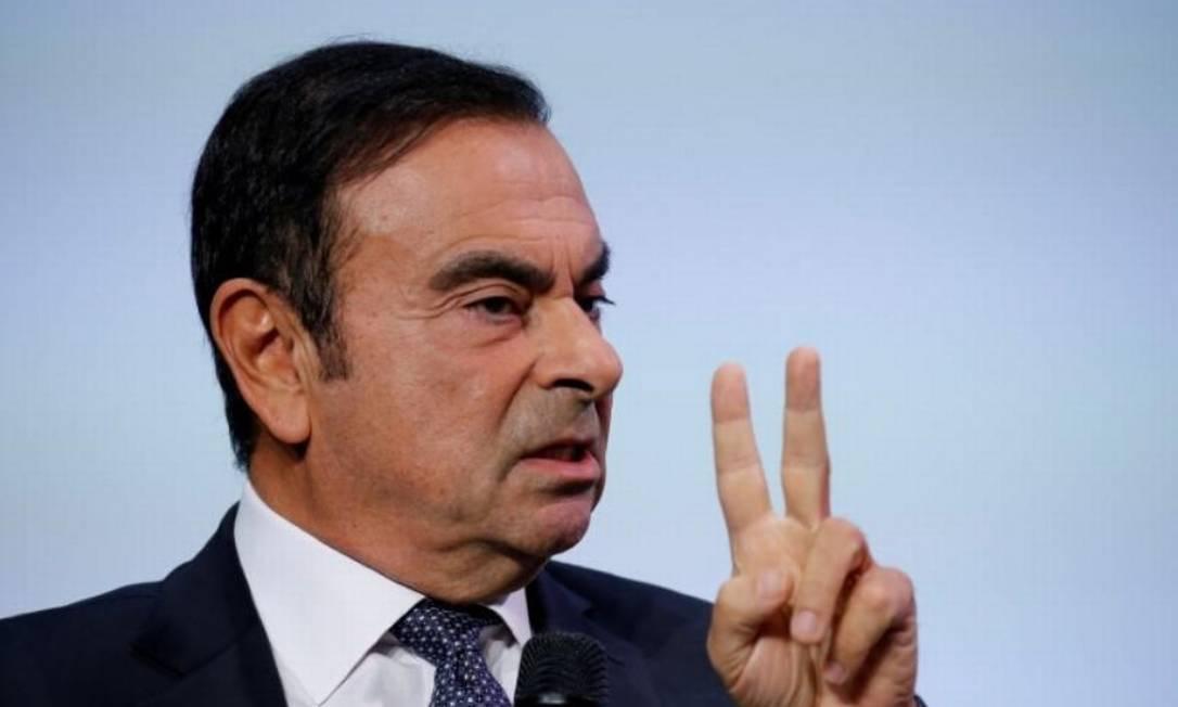 Carlos Ghosn, ex-presidente do Conselho de Administração da Nissan, está detido desde novembro, em Tóquio Foto: Reuters