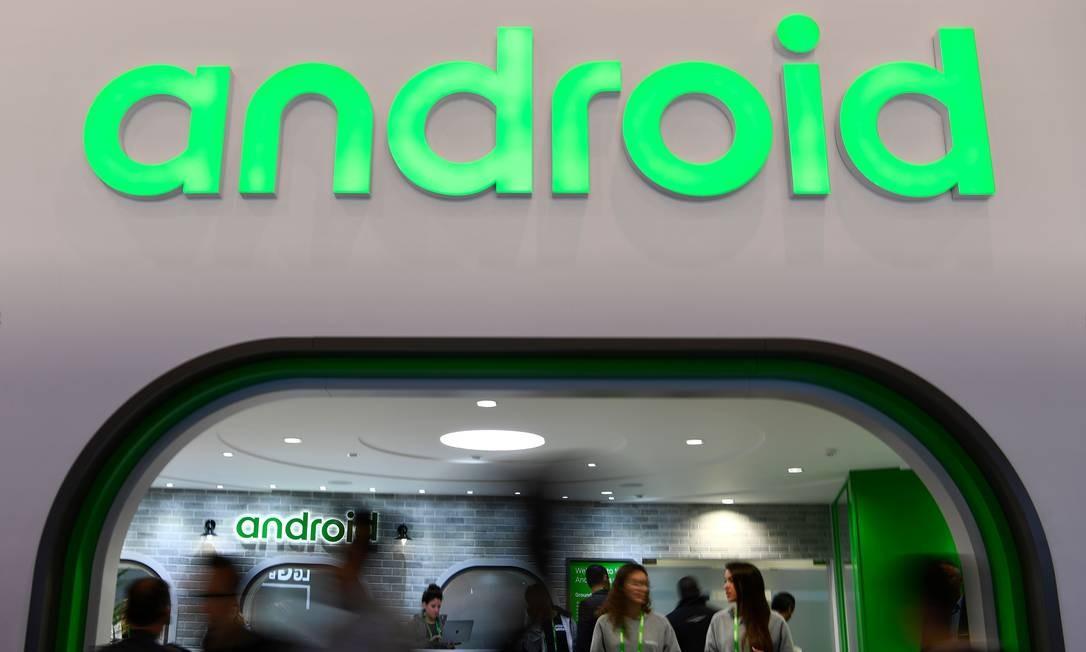 Estande do popular Android na MWC Foto: GABRIEL BOUYS / AFP