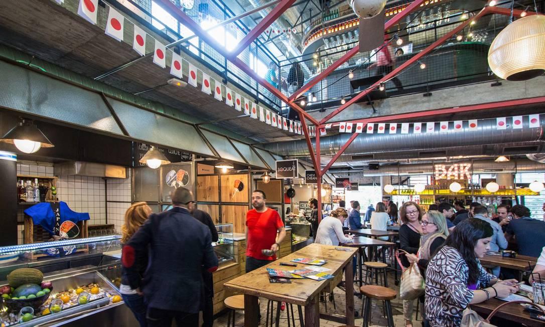 Mercado San Miguel, em Madrid: boa posição de Espanha no ranking tem a ver com alimentação saudável Foto: Infoglobo