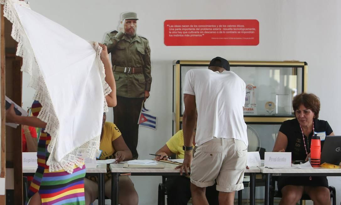 Centro de votação na capital cubana, Havana Foto: STRINGER / REUTERS