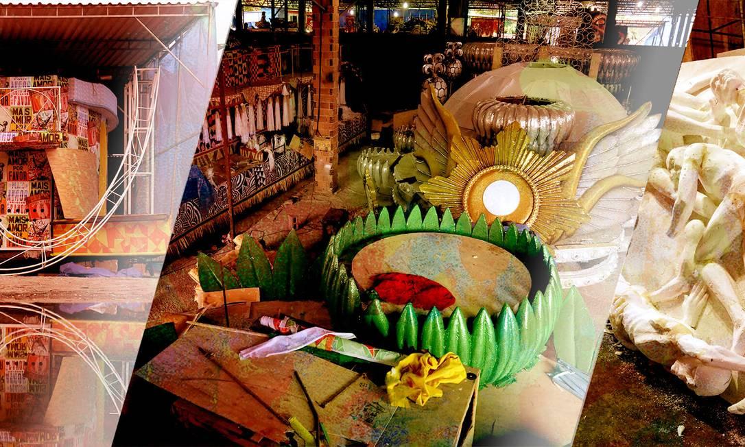 Os barracões da Mangueira e do Acadêmicos do Cubango para o carnaval de 2019 Foto: Custodio Coimbra