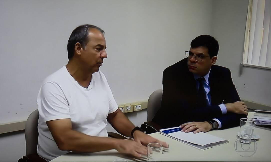 Depoimento do Ex-Governador Sérgio Cabral Foto: Reprodrução / TV GLOBO