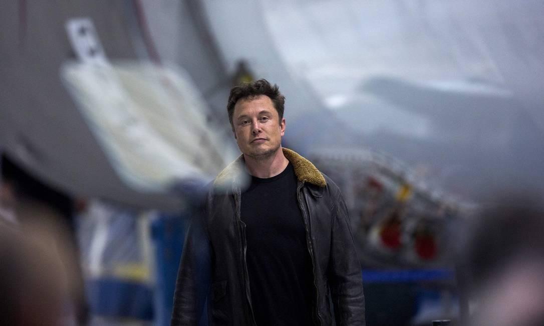 Elon Musk, presidente da Tesla Foto: David Mcnew / AFP