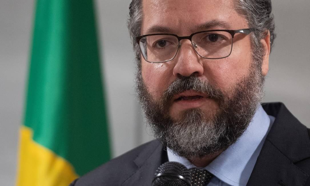 Ministro de Relações Exteriores do Brasil, Ernesto Araújo Foto: SAUL LOEB / AFP/07-02-2019