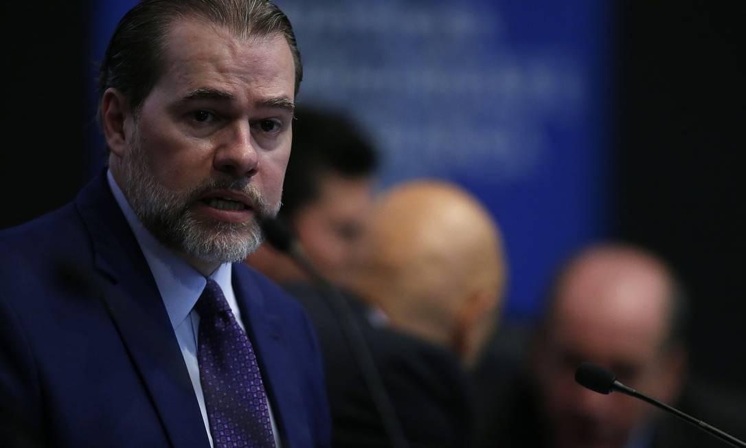 Inquérito aberto nesta quinta-feira pelo presidente do Supremo vai investigar ataques ao Supremo Foto: Jorge William / Agência O Globo