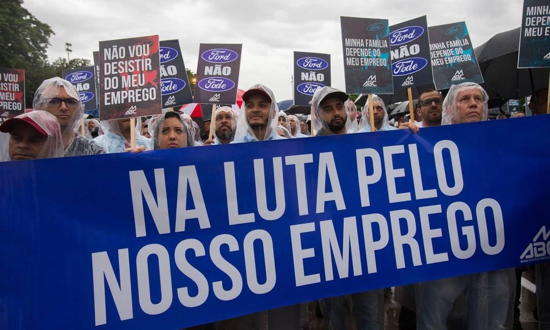 Três empresas mostraram interesse em comprar a fábrica da Ford e, segundo o governador de São Paulo, João Doria (PSDB), estão abertas negociações com duas multinacionais e uma companhia brasileira, todas do ramo automobilístico Foto: Edilson Dantas / Agência O Globo
