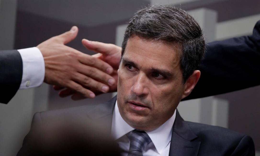 O economista Roberto Campos Neto durante sabatina no Senado Federal Foto: Ueslei Marcelino / Reuters