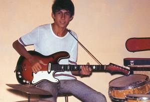O cantor Fagner, na adolescência, em foto reproduzida em sua biografia,