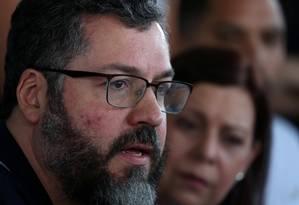 Ernesto Araújo: para chanceler do Brasil, ditador da Coreia do Norte não é tão ruim quanto Maduro Foto: RICARDO MORAES / REUTERS