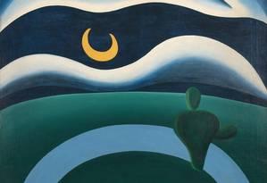Detalhe da tela A lua, adquirida pelo Museu de Arte Moderna de Nova York Foto: Divulgação MoMA