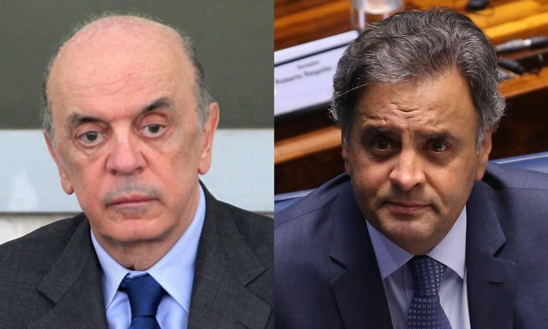 Os tucanos José Serra (PSDB-SP), Aécio Neves (PSDB-MG) Foto: Ailton de Freitas / Agência O Globo