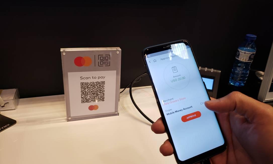 Sistema de pagamento digital da Mastercard é apresentado do congresso de Barcelona Foto: Bruno Rosa