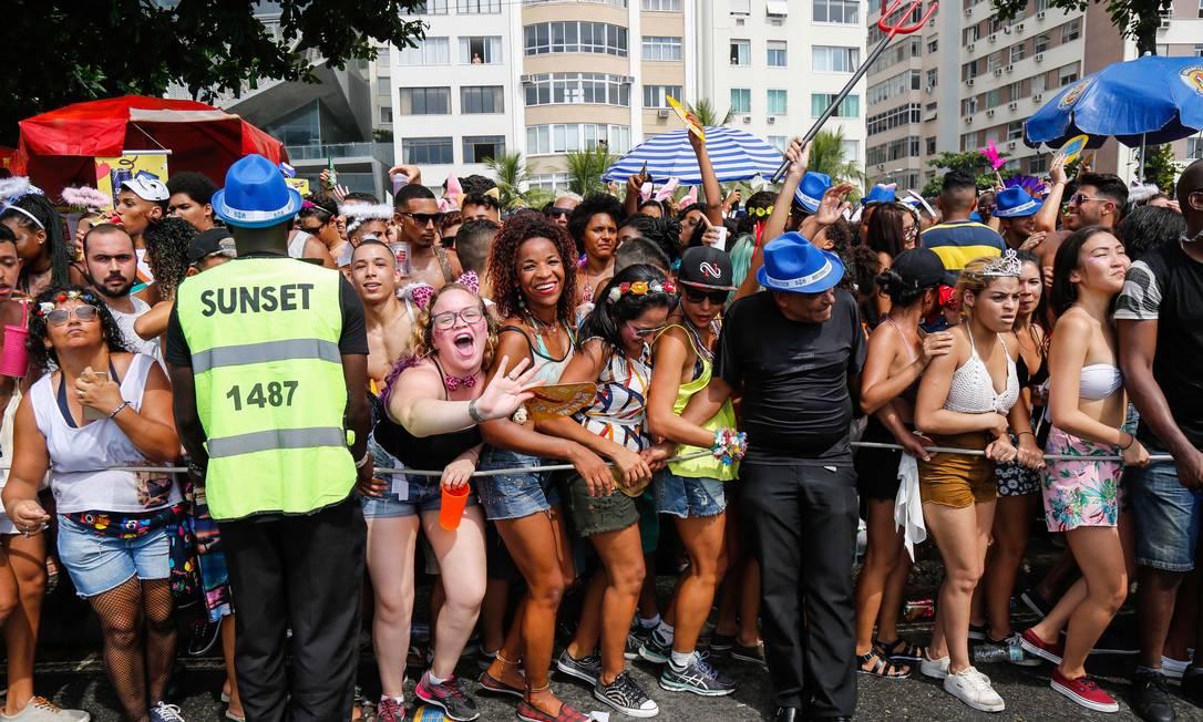 Desfile do Bloco da Favorita em Copacabana, em 10/02/2018 Foto: Marcelo Regua / Agência O Globo