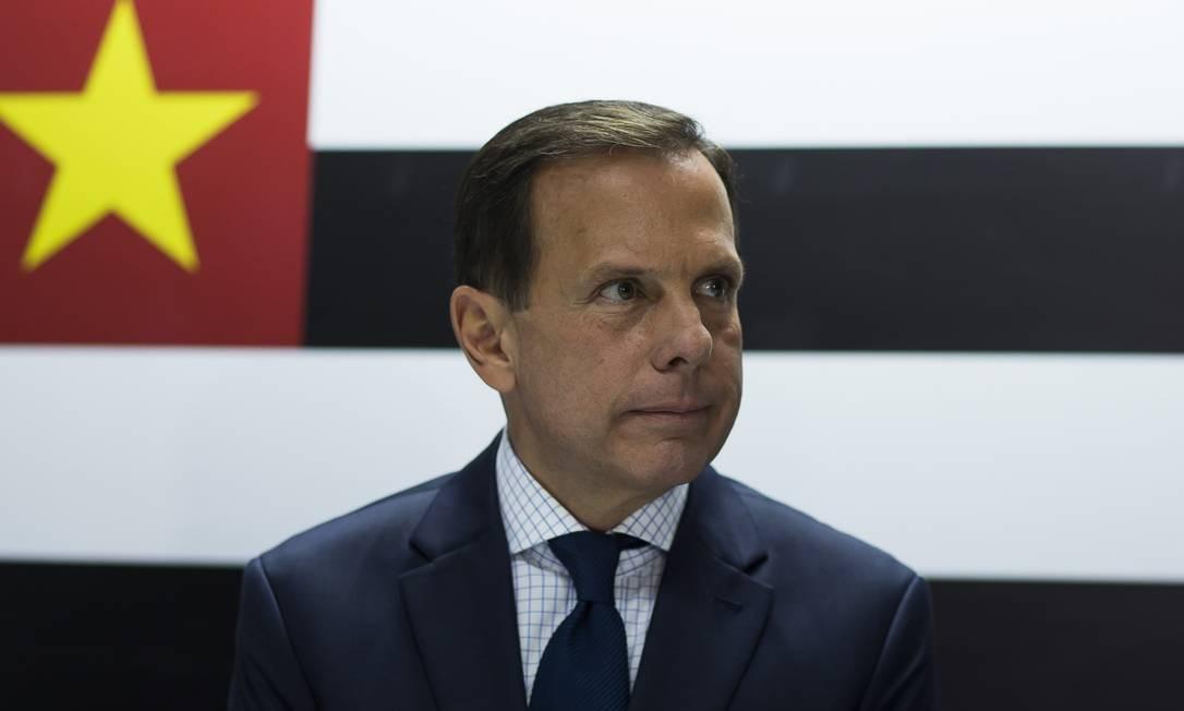 O governador de São Paulo, João Doria: