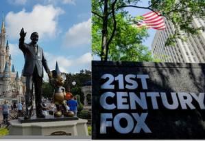 Disney ganha aprovação do Cade, órgão de defesa da concorrência, para compra da Fox no Brasil Foto: Montagem/O Globo