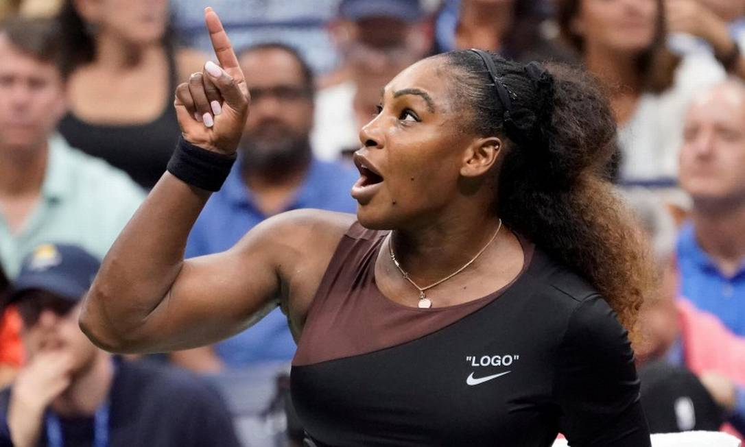 """SerenaWilliams destaca que """"mulheres que expressam suas emoções, sua paixão e suas opiniões são chamadas de dramáticas, loucas, desequilibradas, histéricas, irracionais ou malucas"""" Foto: USA Today Sports / USA TODAY Sports"""