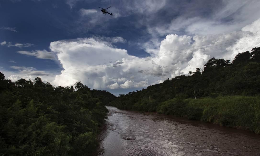 Rio Paraopeba, em Minas Gerais, após o rompimento da barragem em Brumadinho Foto: Alexandre Cassiano / Agência O Globo