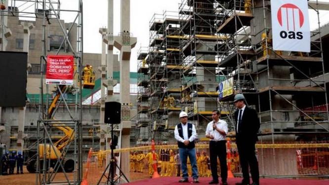 OAS fraudou contratos em sete países para gerar recursos ilícitos que alimentaram pagamentos de propinas; na foto, uma das construções da empreiteira no Peru Foto: Divulgação / Presidência do Peru