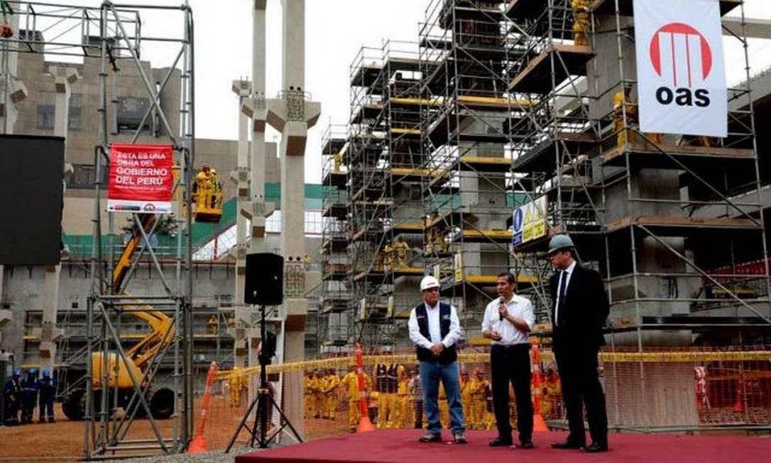 Na foto, uma das construções da empreiteira no Peru Foto: Divulgação / Presidência do Peru