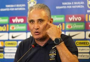 O técnico Tite, da seleção brasileira, em foto de 04/11/2018 Foto: Leo Martins