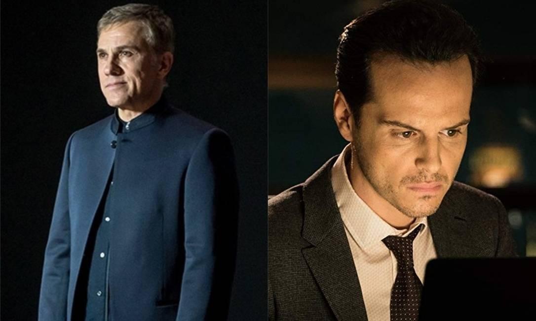"""Ernst Stavro Blofeld e Max Denbigh - Vilões de """"007 Contra Spectre"""" de 2015. Desejam ganhar o poder mundial através de um programa de vigilância chamado """"Nine Eyes"""". No entanto, Bond destrói o Data Center e consegue destruir o programa entes de sua ativação. Foto: Divulgação"""
