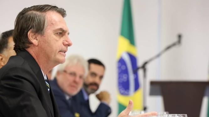 O presidente Jair Bolsonaro participa de café da manhã com jornalistas Foto: Marcos Corrêa/Presidência