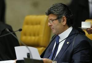 Ministro Luiz Fux Foto: Jorge William / Agência O Globo Foto: Jorge William / Agência O Globo