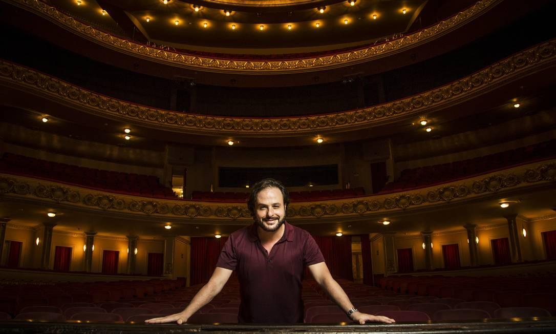 André Heller-Lopes, diretor Artístico do Teatro Municipal Foto: Guito Moreto / Agência O Globo