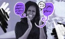 Michelle Obama visita escola em Londres, em turnê para o lançamento de seu livro de memórias Foto: Ben Stansall/AFP