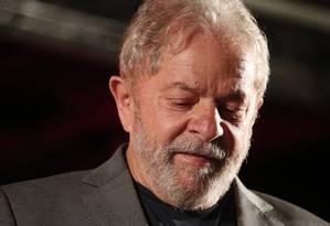 O ex-presidente Lula foi preso no dia 7 de abril de 2018 Foto: Marcos Alves / Agência O Globo
