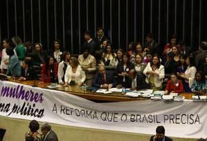 Sessão da Câmara dos Deputados Foto: Aílton de Freitas / Agência O Globo