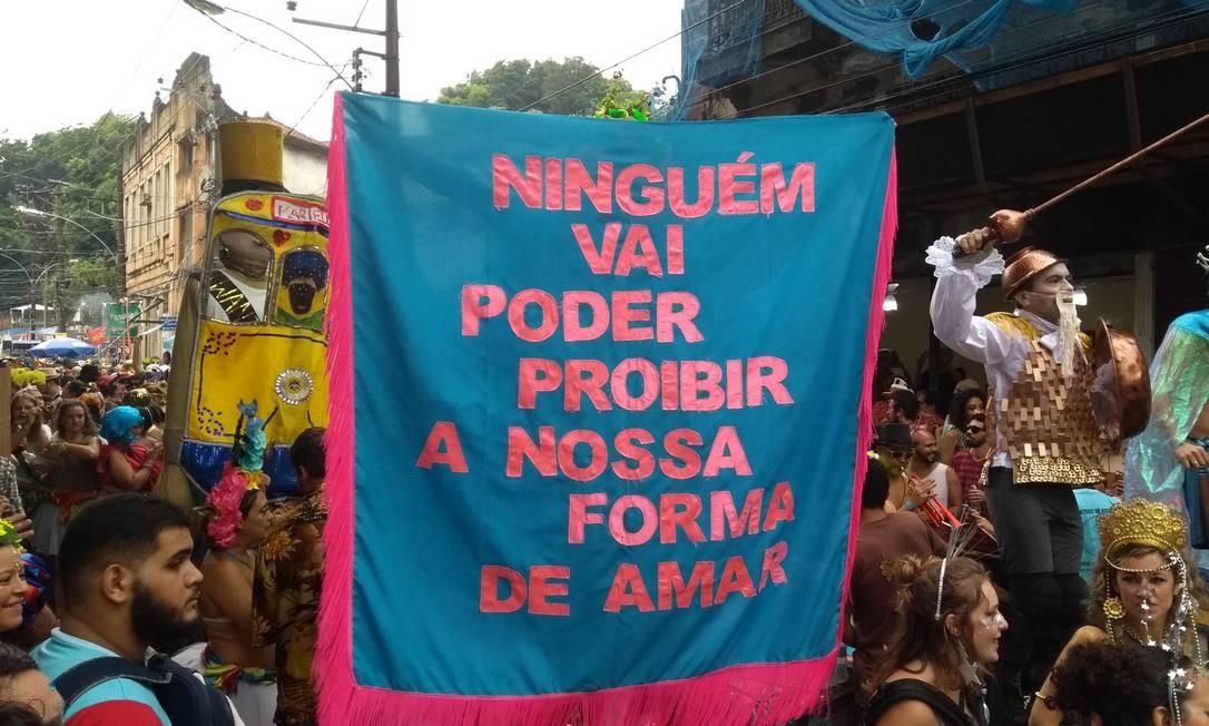 Ideia do estandarte no Céu na Terra surgiu após um caso de agressão de homossexual Foto: Gabriel Martins