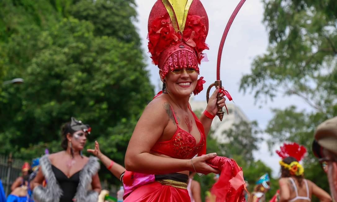 A alegria da foliã no Terreirada Cearense Foto: Marcelo Regua / Agência O Globo