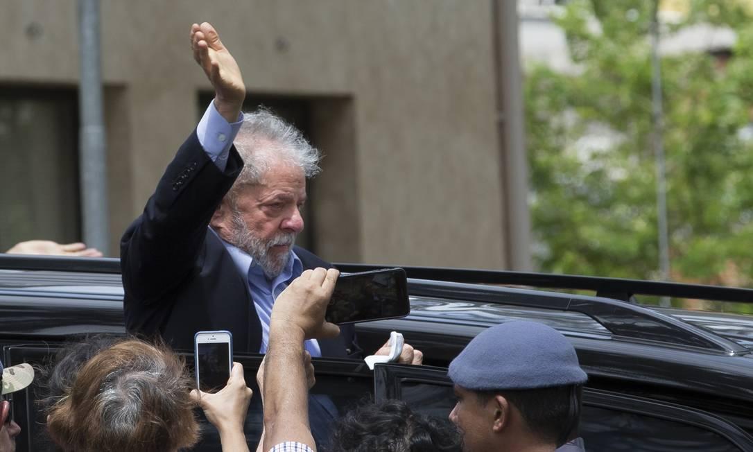 O ex-presidente Luiz Inácio Lula da Silva em março Foto: Edilson Dantas / Agência O Globo