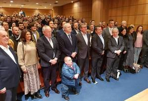 Reunião do partido português Aliança Foto: Terceiro / Agência O Globo