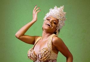 Quiteria Chagas rainha de bateria da Império Serrano Foto: Leo Martins / Agência O Globo