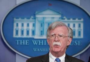 Conselheiro de Segurança Nacional dos Estados Unidos, John Bolton, na Casa Branca Foto: MANDEL NGAN / AFP