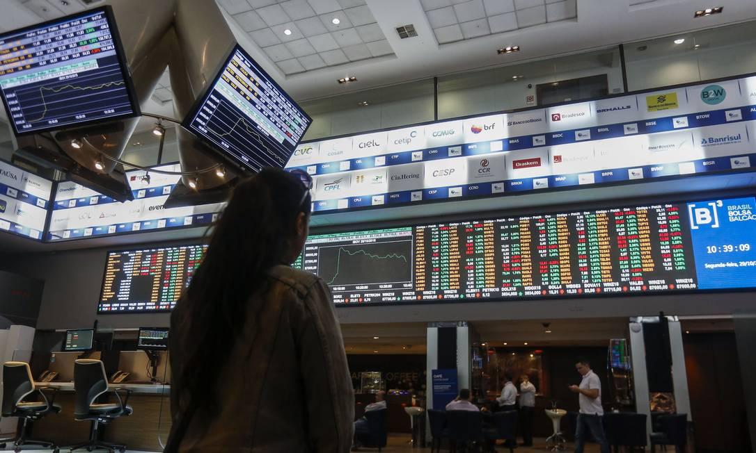 A Bolsa de São Paulo Foto: MIGUEL SCHINCARIOL / Agência O Globo