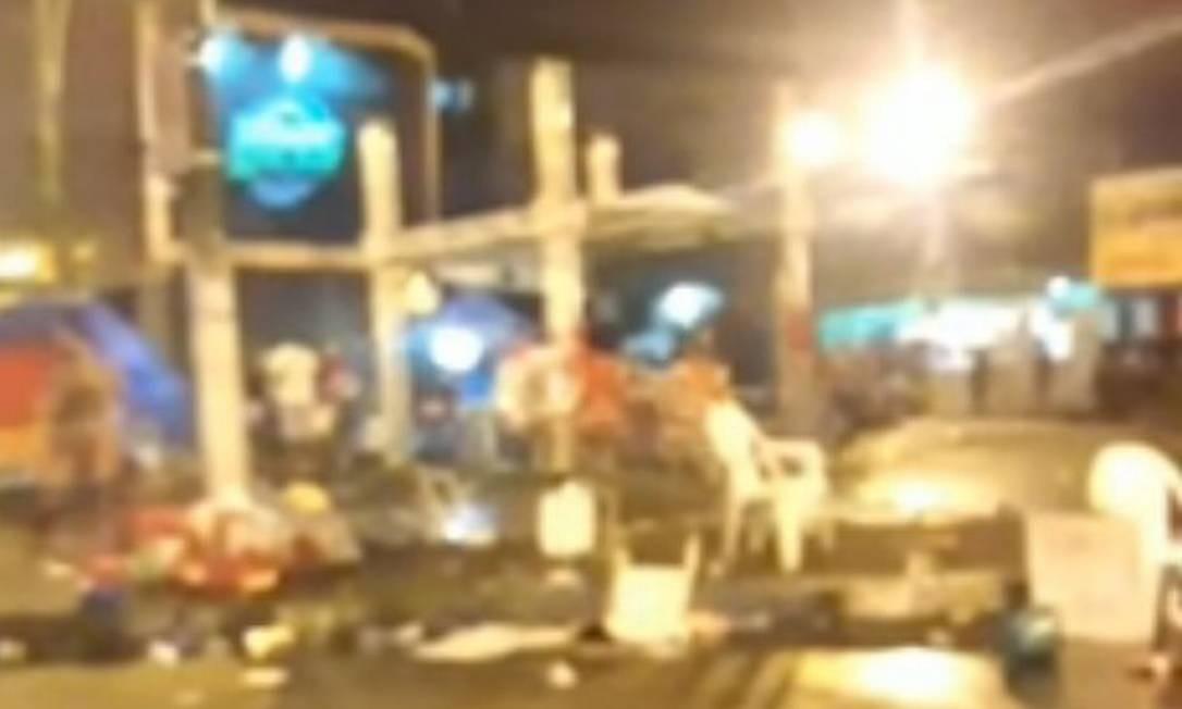 Vídeo mostra briga de bate-bolas na Zona Norte do Rio Foto: OTT-RJ