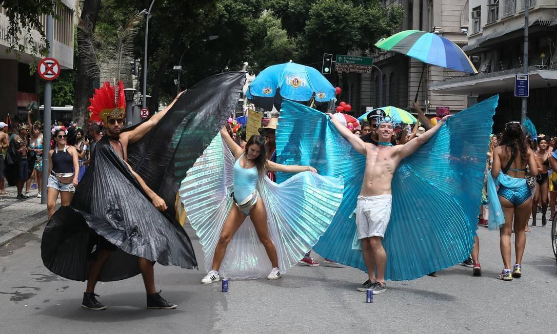 Já o Terra de Ninguém fez a alegria dos foliões no Centro Foto: Pedro Teixeira / Agência O Globo