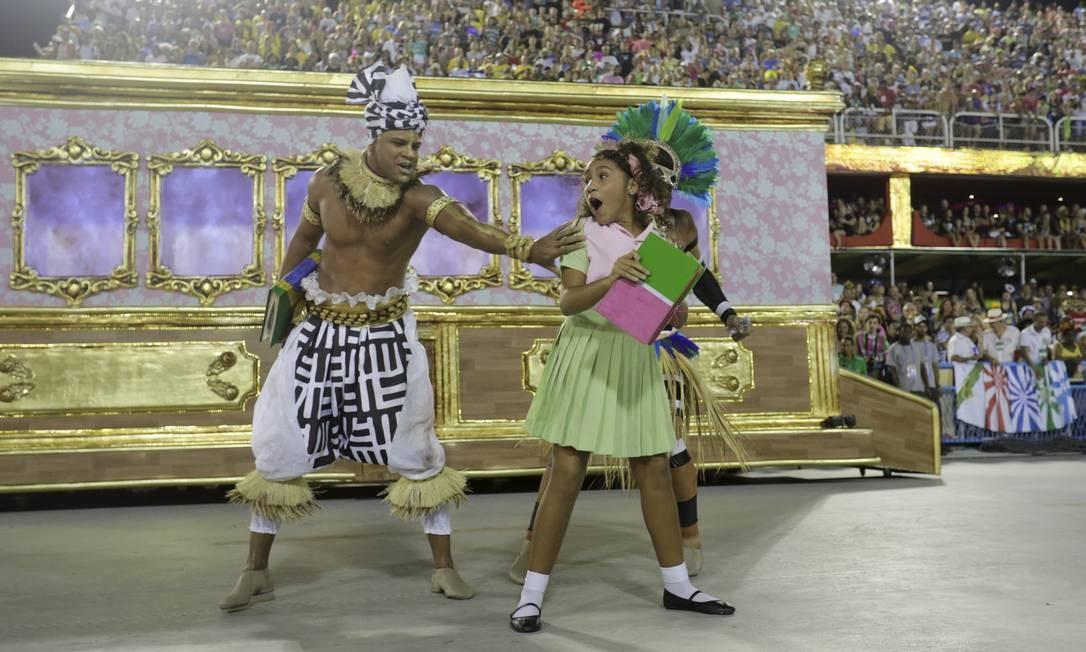 Carnaval 2019 Desfile das escolas do grupo especiais . Mangueira Foto: MARCELO THEOBALD / Agência O Globo
