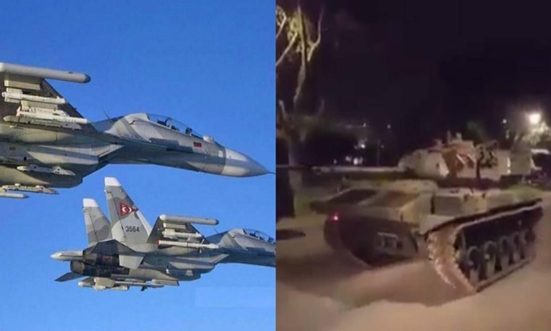 Imagens de caças e tanques foram utilizadas para espalhar notícias falsas nas redes sobre relação diplomática entre Brasil e Venezuela Foto: Reprodução
