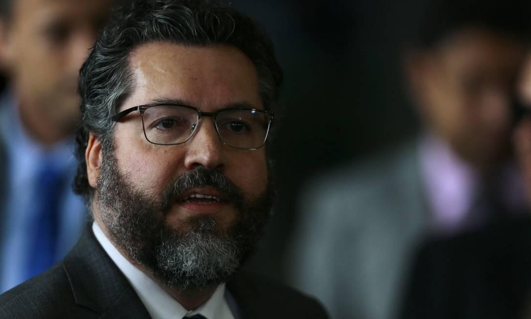 Ernesto Araújo é um principista de um tipo nunca antes visto na chefia deste quase bicentenário Itamaraty. Foto: Jorge William / Agência O Globo