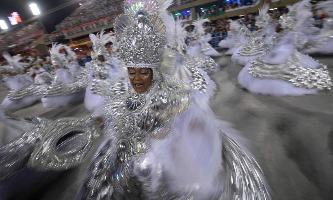 Ala das baianas do Salgueiro foi a escolhida pelo júri Foto: Mauro Pimentel / AFP