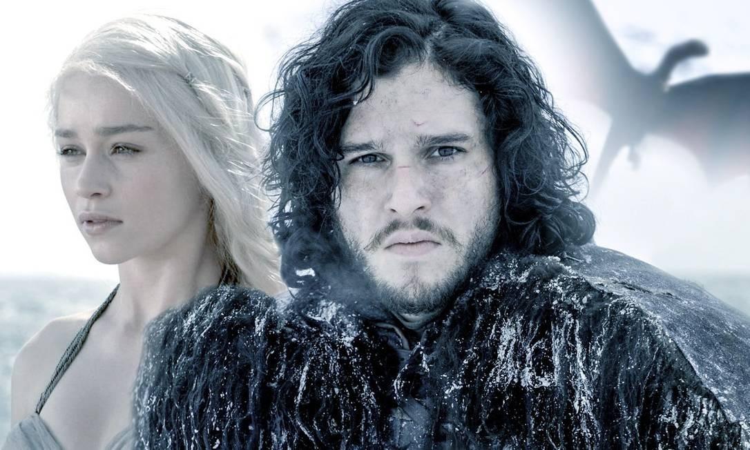 Jon Snow (Kit Harington) e Daenerys Targaryen (Emilia Clarke): episódios da última temporada serão mais longos Foto: Divulgação