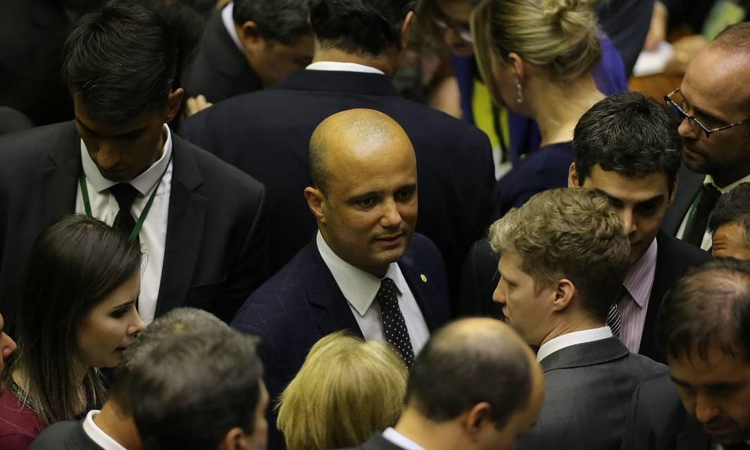 Líder do governo, Major Vitor Hugo Foto: Jorge William / Agência O Globo