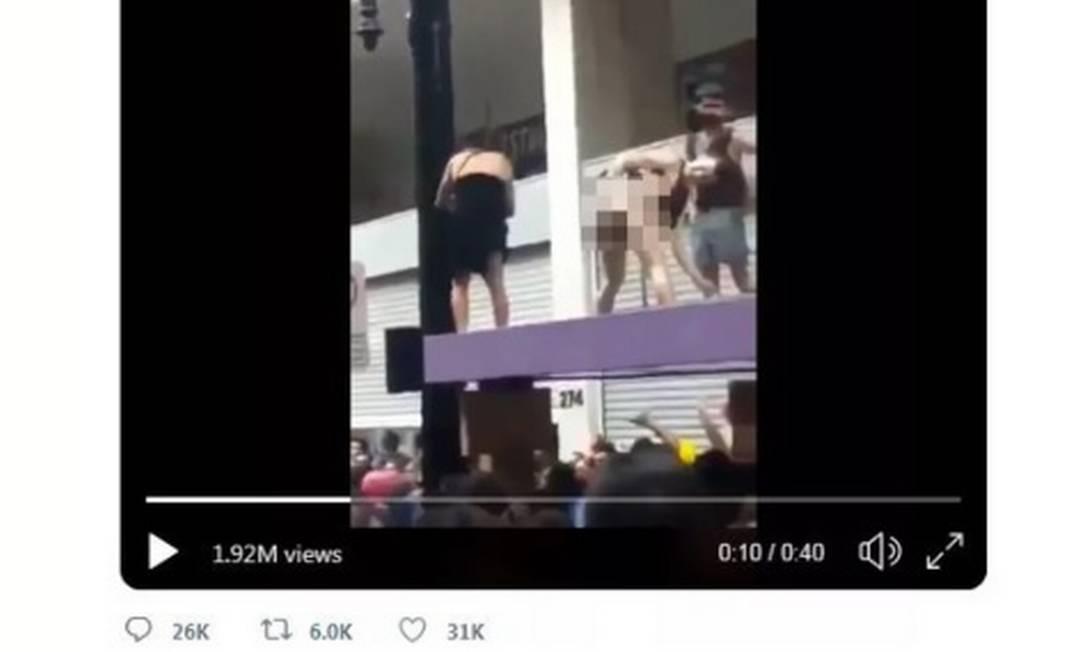Imagem de trecho de vídeo publicado pelo presidente Bolsonaro no Twitter Foto: Reprodução