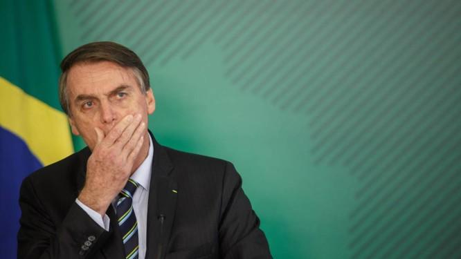 O presidente Jair Bolsonaro falou evitou falar sobre caso do ministro do Turismo Foto: Daniel Marenco / Agência O Globo